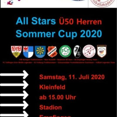 Sportwoche mit Ü50 Herren und Ü30 Damen Turnier am 11. Juli 2020 in Empfingen